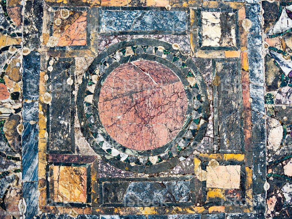 Roman marble floor background stock photo
