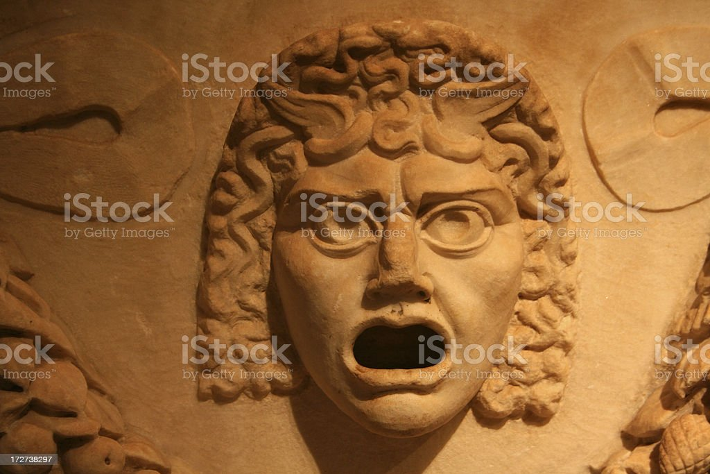 Roman mask stock photo