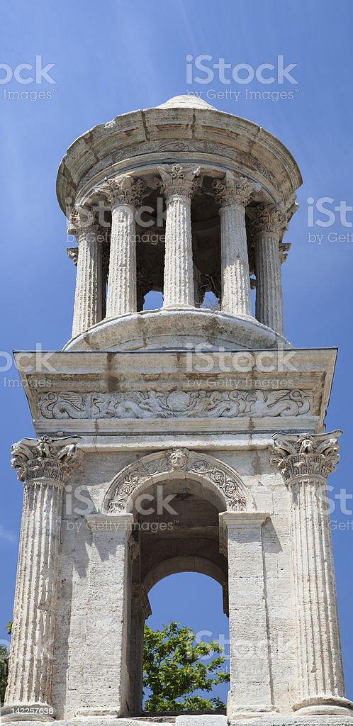 Roman mausoleum (Glanum,Provence) royalty-free stock photo
