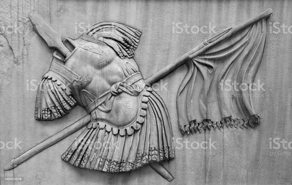 Roman Military Relief stock photo