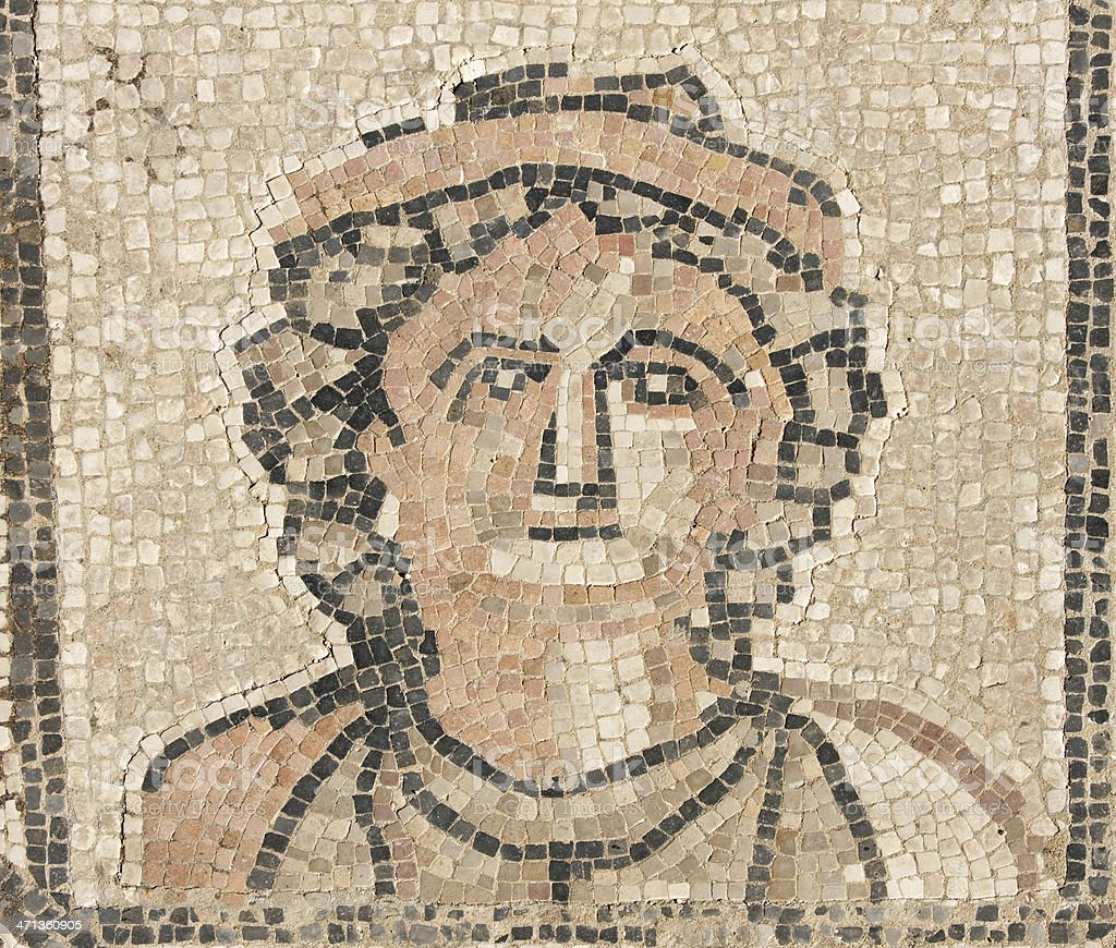 Roman Mosaic at Volubilis royalty-free stock photo