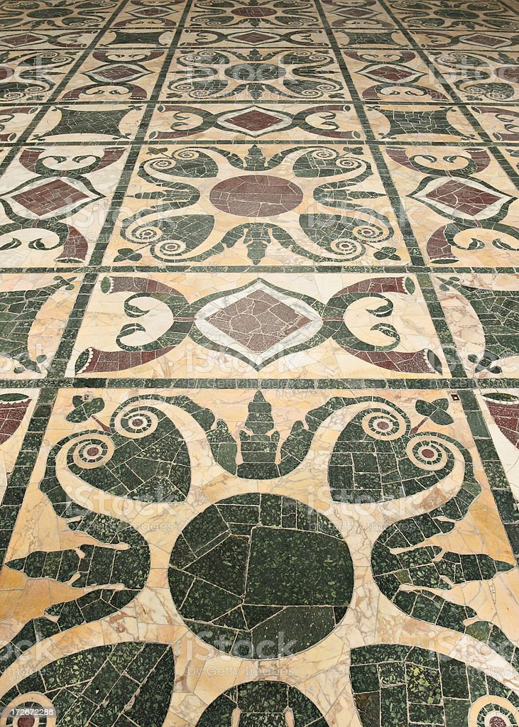 Roman Mosaic Floor royalty-free stock photo