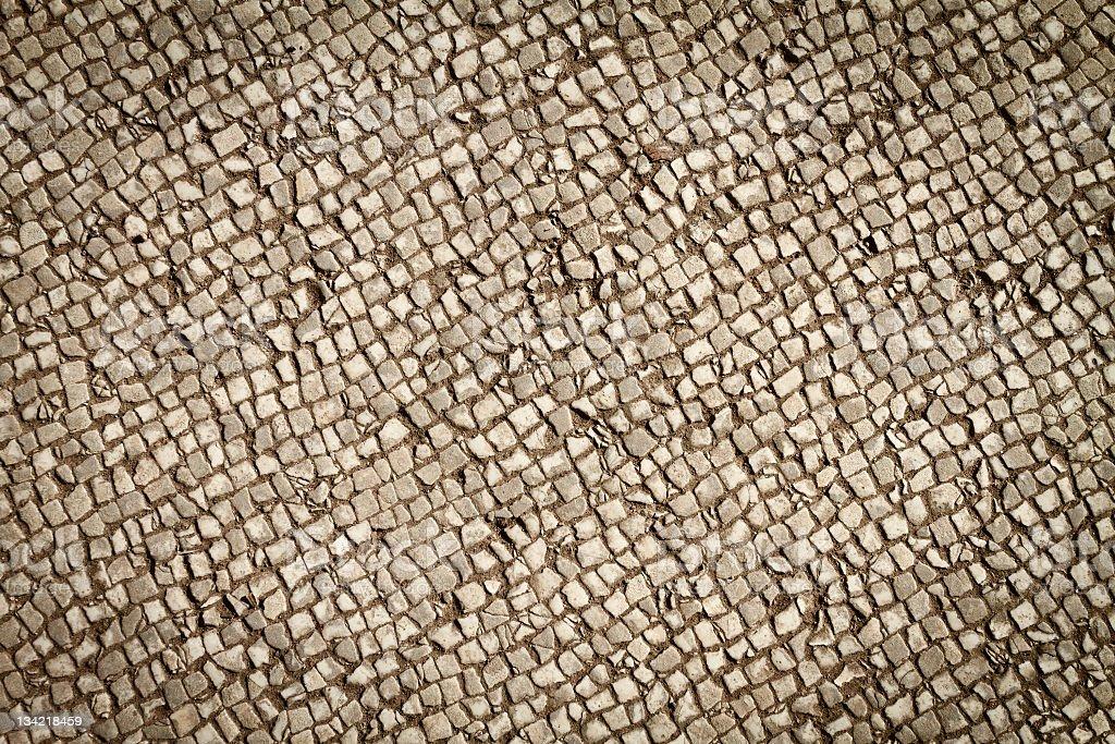 Roman Mosaic Pavement Pattern stock photo