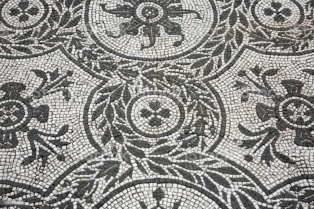 Roman mosaic stock photo