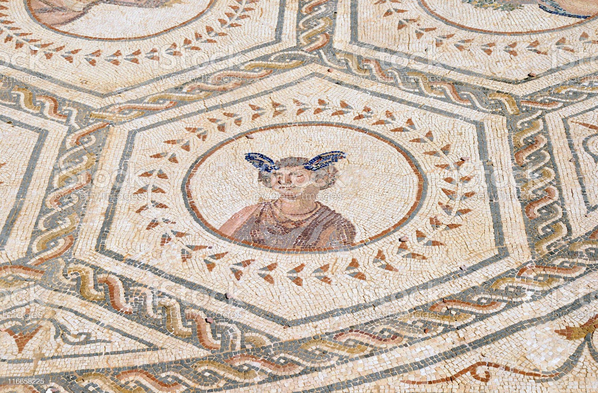 Roman mosaics,Italica Archaeological Complex,Spain royalty-free stock photo