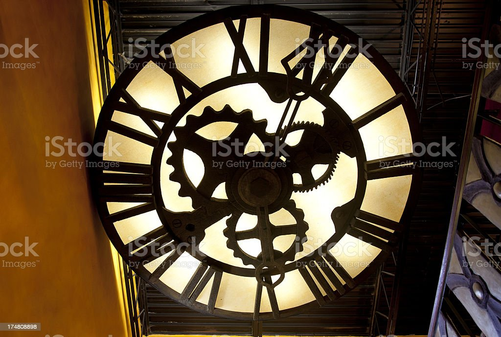 Roman Numeral Clock stock photo