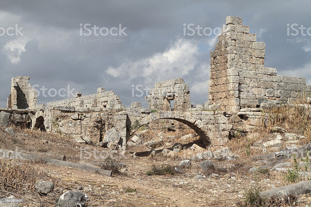 Roman Palaestra, Perge, Turkey stock photo