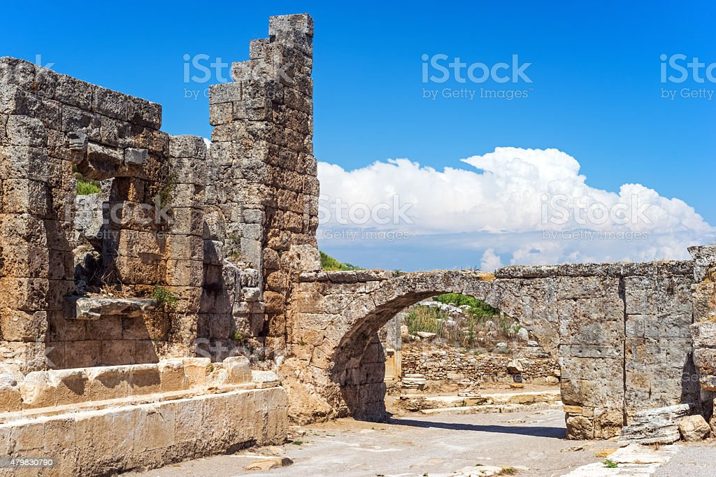 Roman Palaestra, Perge,Antalya, Turkey stock photo