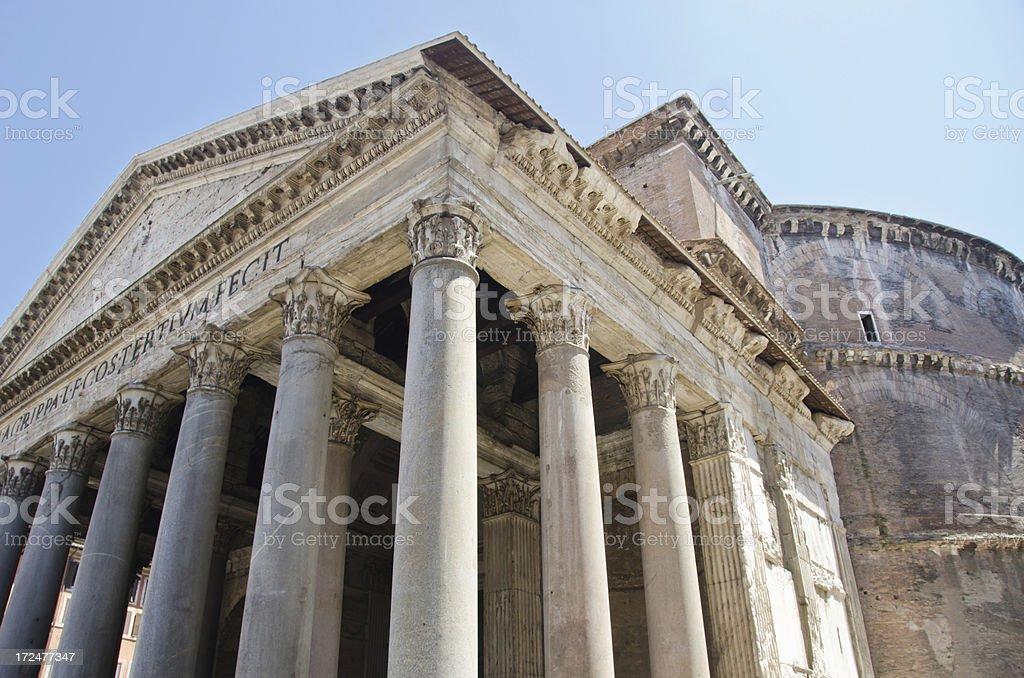 Roman Pantheon royalty-free stock photo