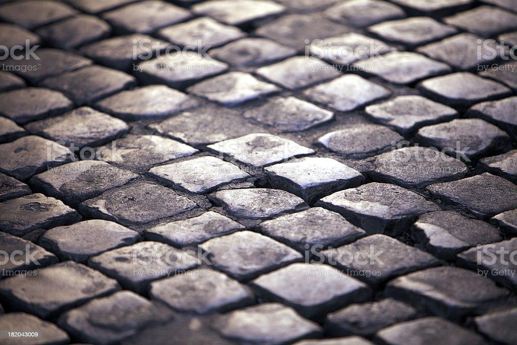 Roman paving stones royalty-free stock photo