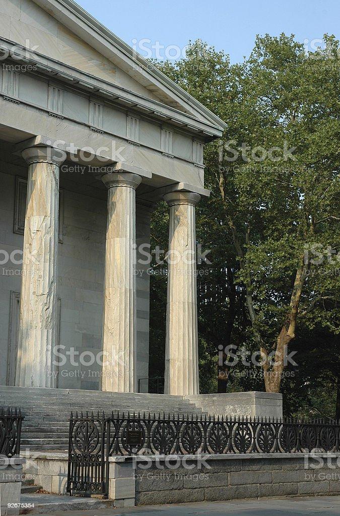 roman pillars colonial Philadelphia royalty-free stock photo