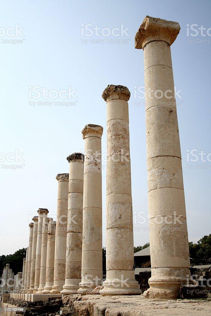 Roman Pillars royalty-free stock photo