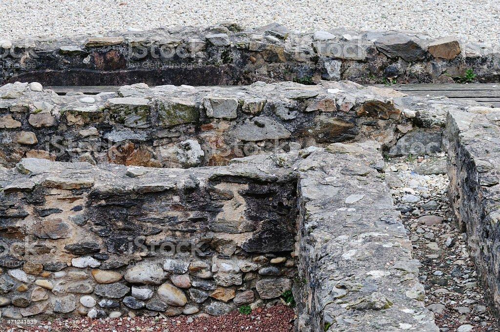 Roman remains, Lyon, France stock photo