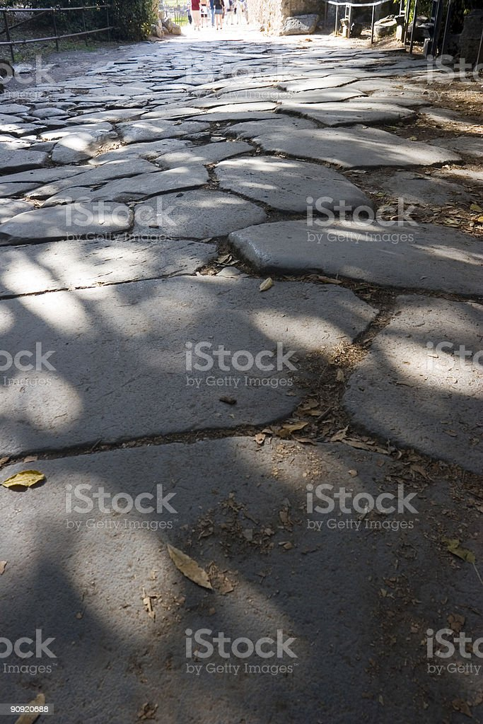 Roman Road royalty-free stock photo