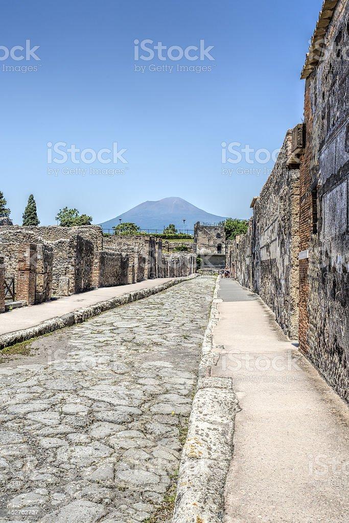 Roman Road Pompei stock photo