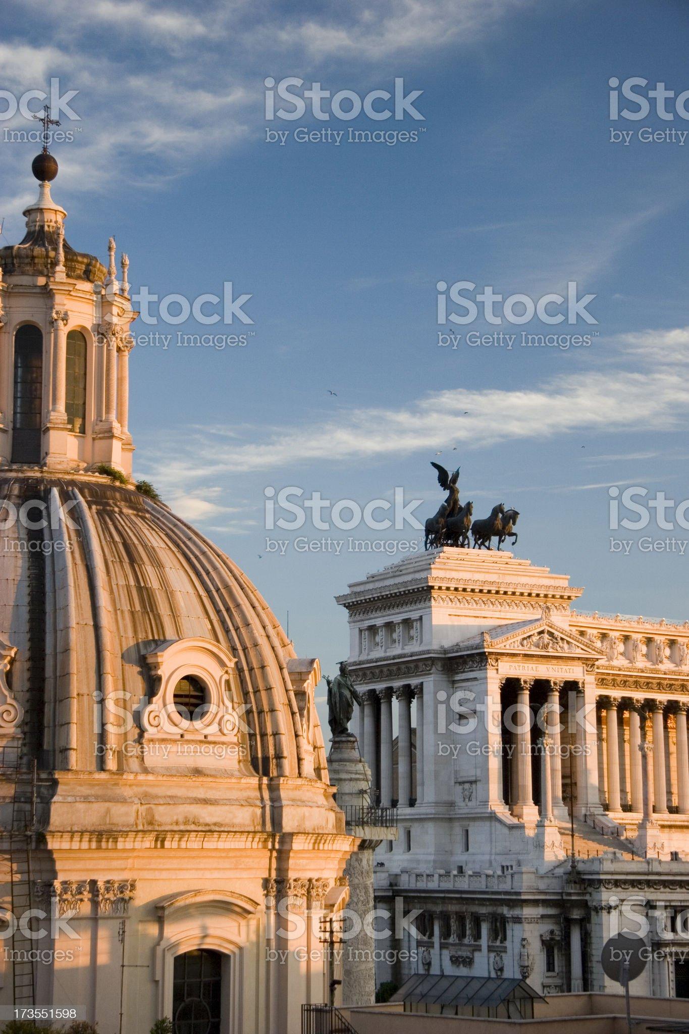 Roman rooftops royalty-free stock photo