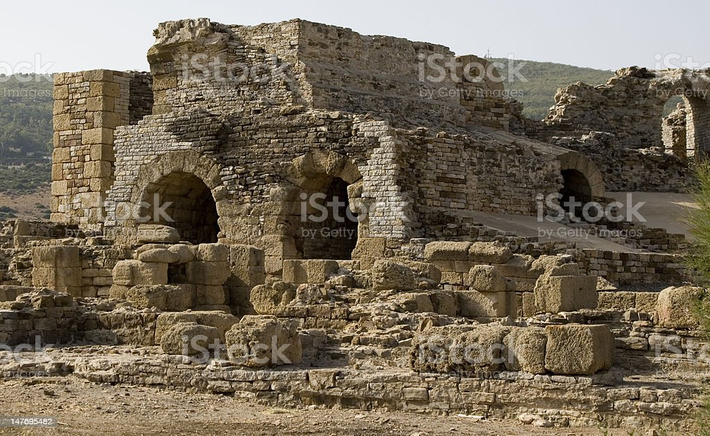 Roman Ruin Baelo Claudia in Spain stock photo