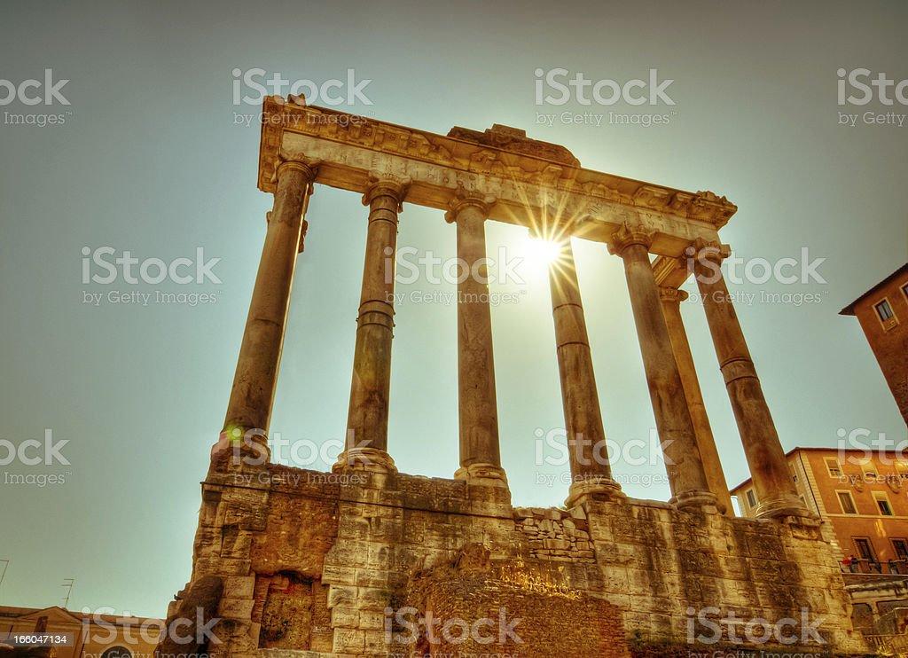 Roman ruin royalty-free stock photo