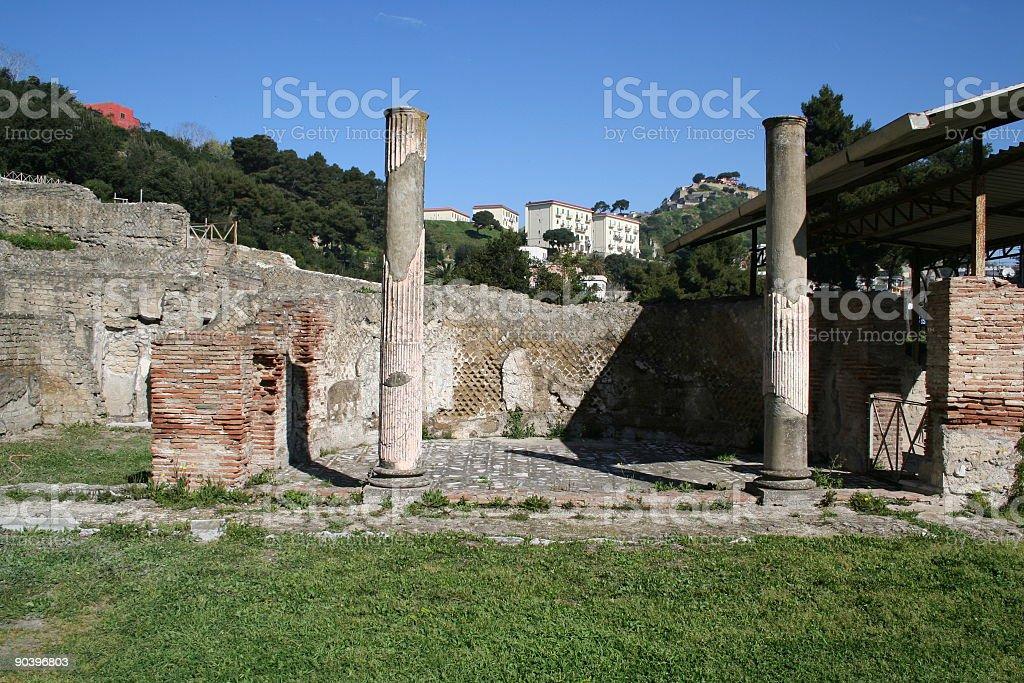Roman ruins at Baia, stock photo