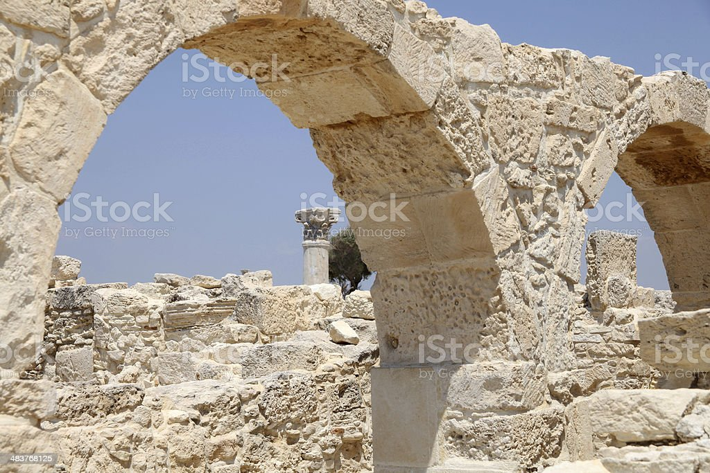 Roman Ruins at Kourion, Cyprus stock photo