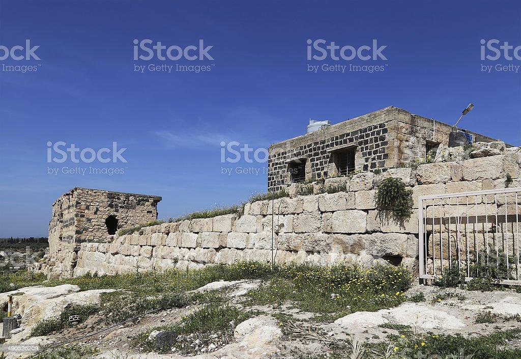 Roman ruins at Umm Qais, Jordan stock photo