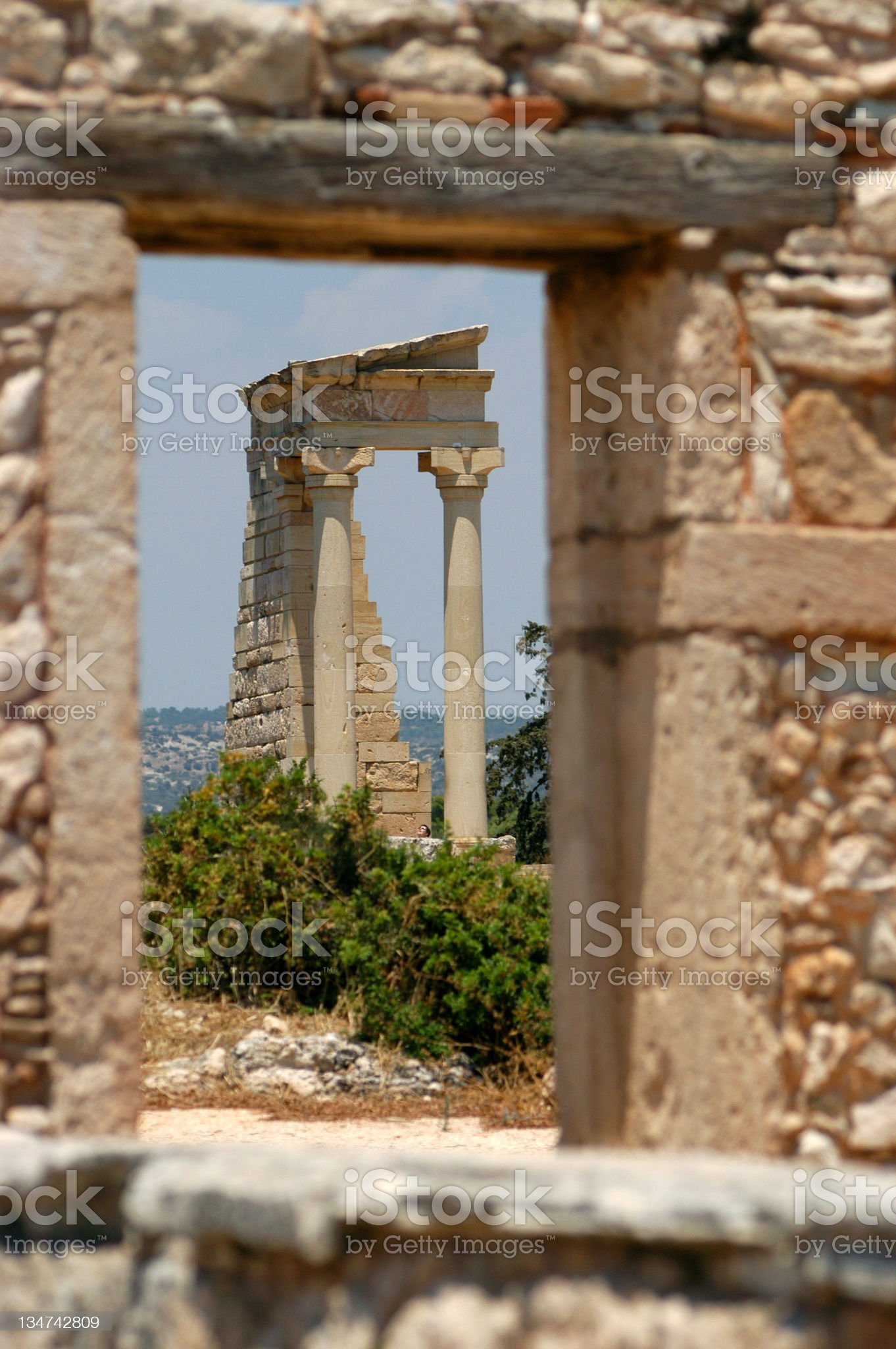 Roman Ruins in Cyprus. royalty-free stock photo
