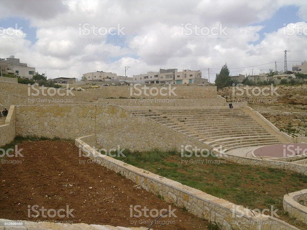 Roman ruins in Hebron in Palestine stock photo