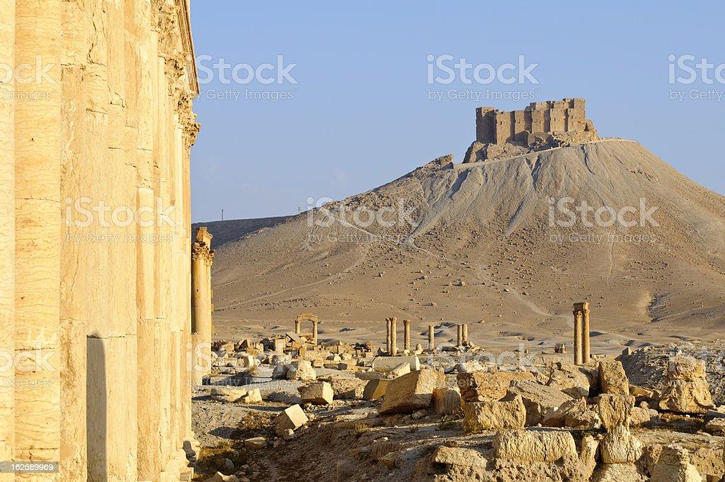 Roman ruins in Palmyra, Syria royalty-free stock photo