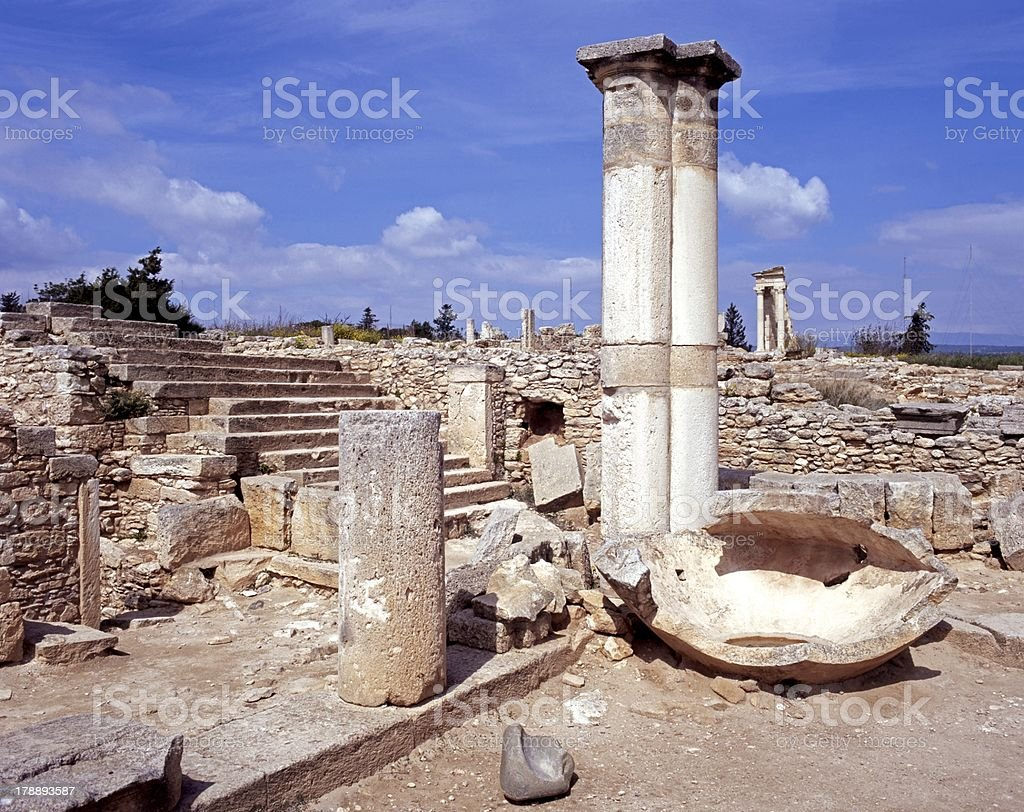 Roman ruins, Kourion, Cyprus. stock photo