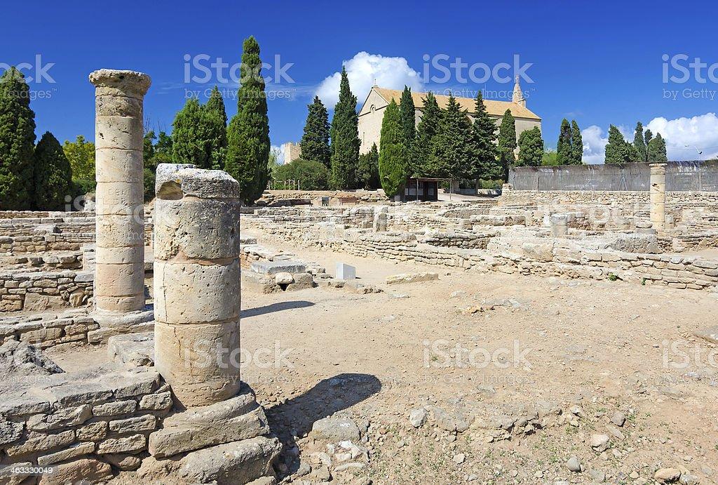 Roman ruins on Majorca stock photo