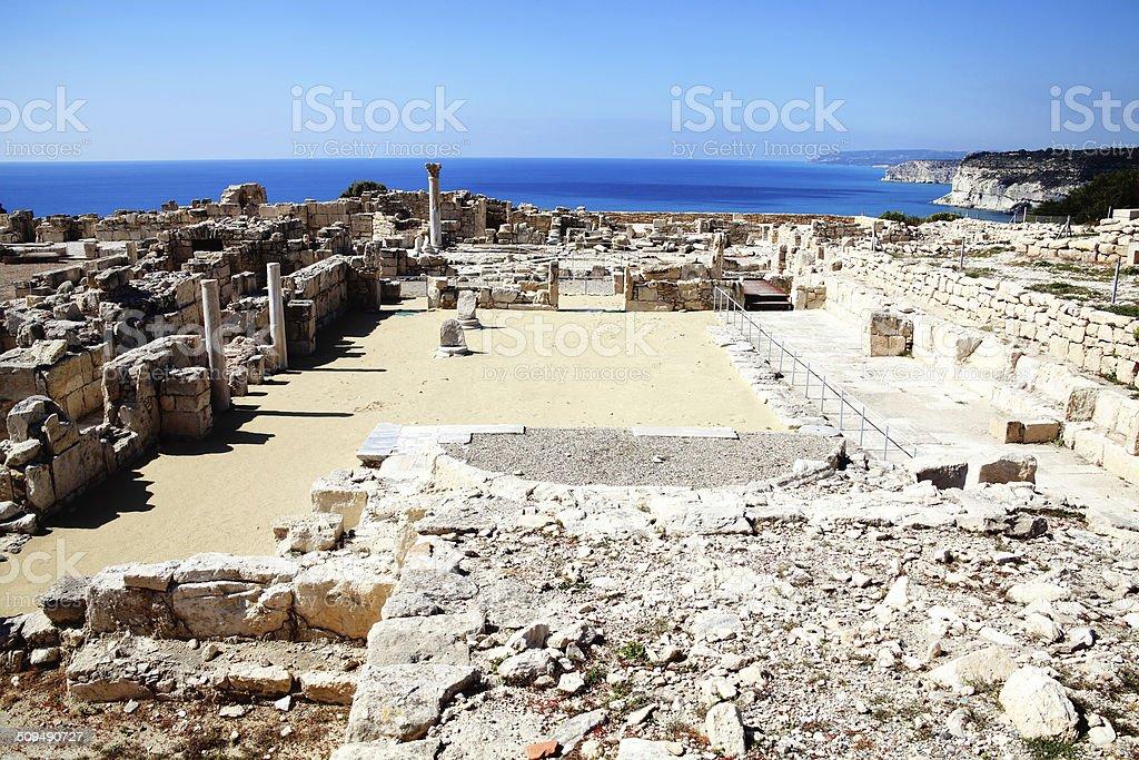 Roman ruins, Paphos, Cyprus stock photo