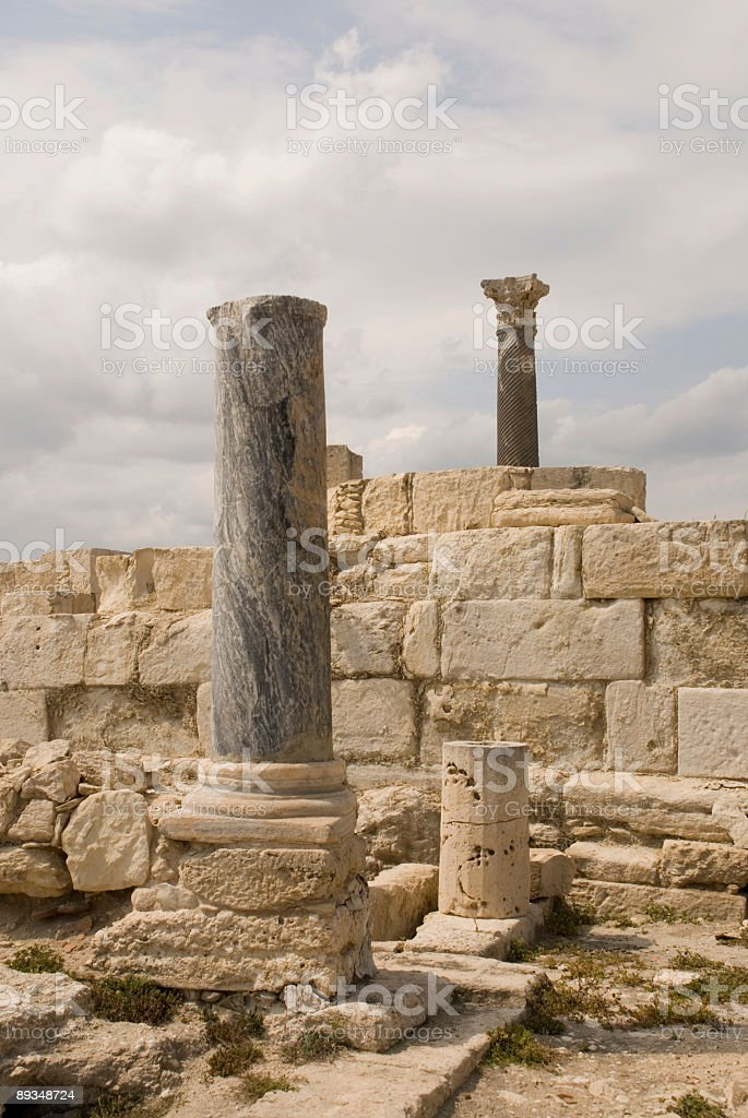 Roman ruins royalty-free stock photo