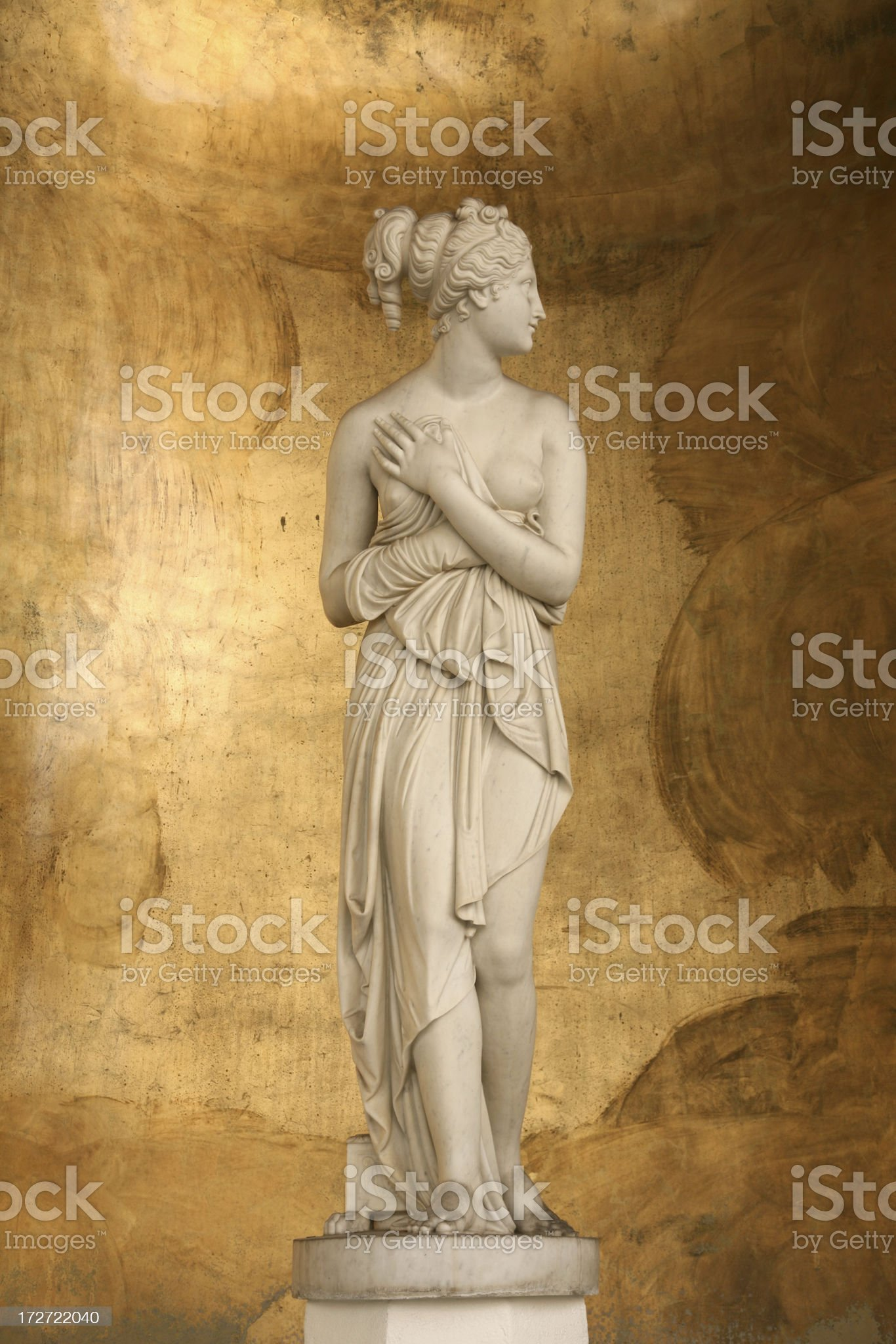 Roman Sculpture (naked woman) royalty-free stock photo