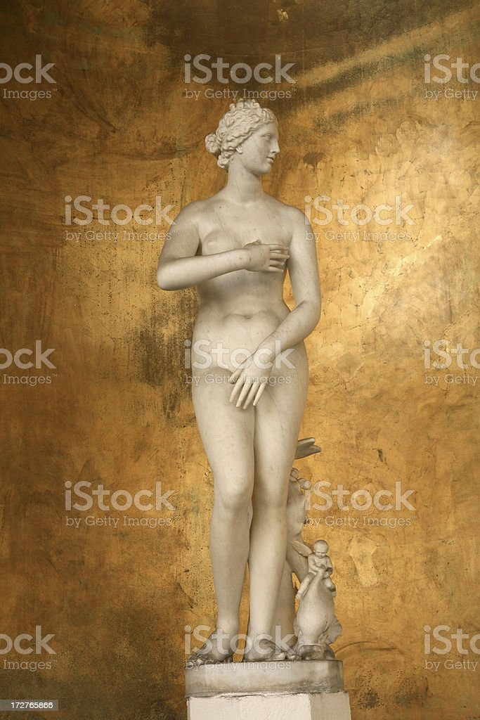 Roman Sculpture (naked woman) royalty-free stock photo