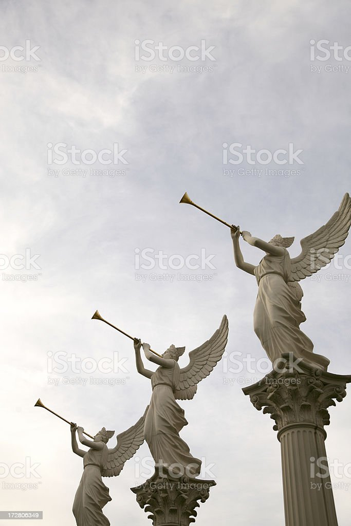Roman Sculpture (angel) royalty-free stock photo