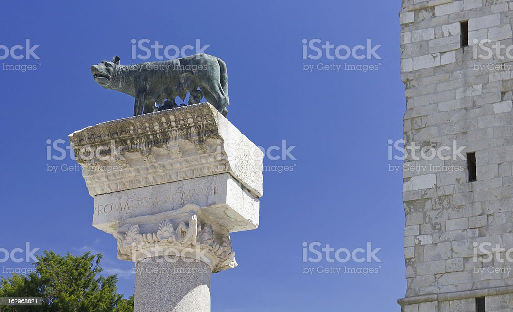 Roman She-Wolf at Aquileia royalty-free stock photo
