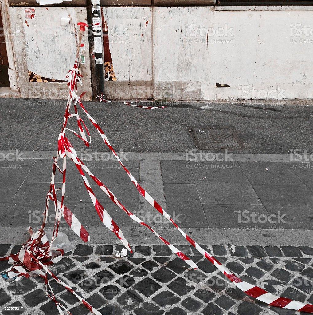 Roman sidewalk stock photo
