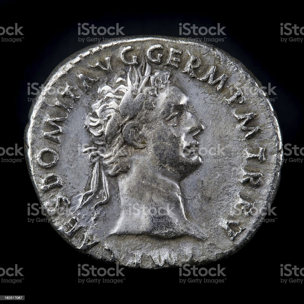 Roman Silver Coin Domitian royalty-free stock photo