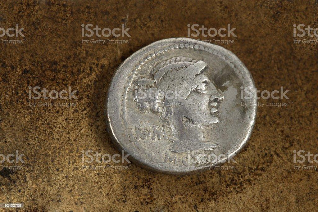 Roman Silver Denarius Coin 89 BC royalty-free stock photo