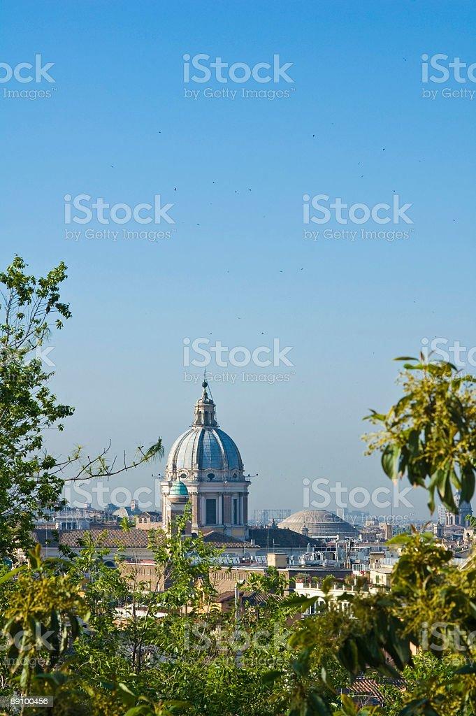 Roman skyline, Italy royalty-free stock photo