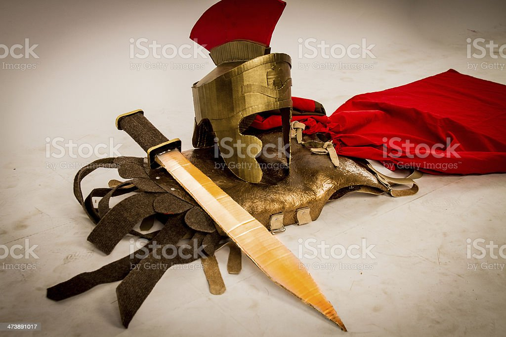Roman Soldier Armor stock photo