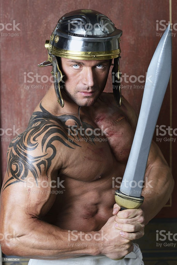 Roman soldier royalty-free stock photo