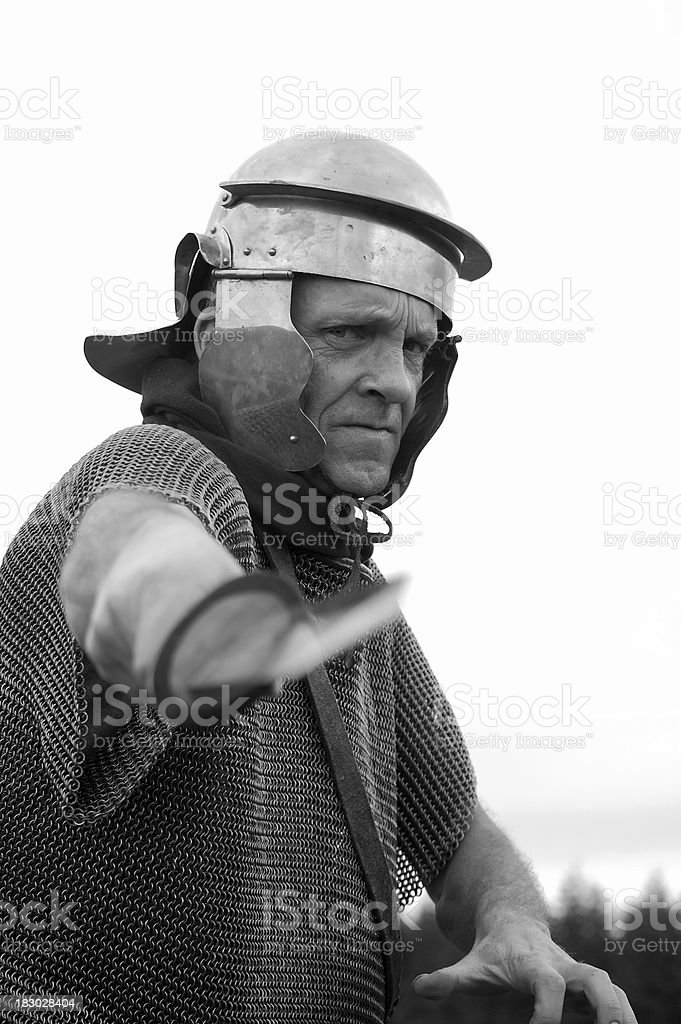 Roman Soldier. stock photo