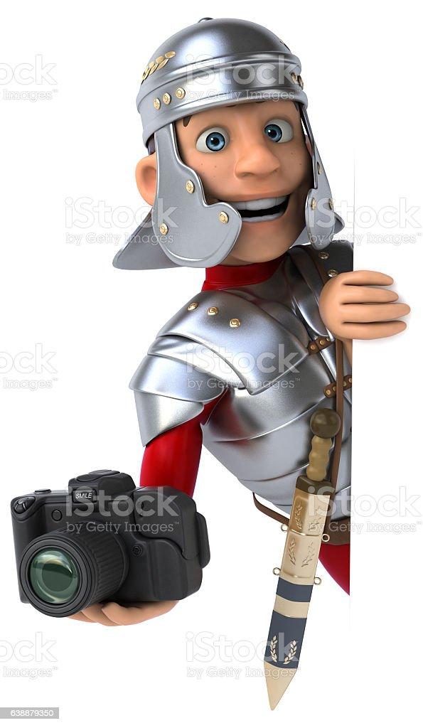 Roman soldier stock photo