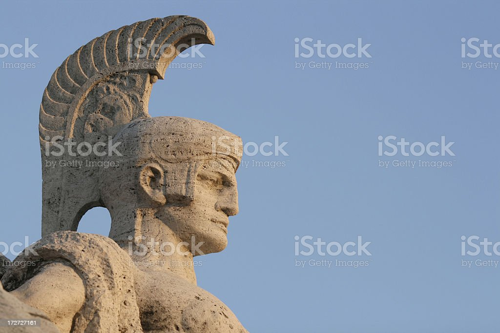 Roman soldier sculpture, Rome Italy royalty-free stock photo