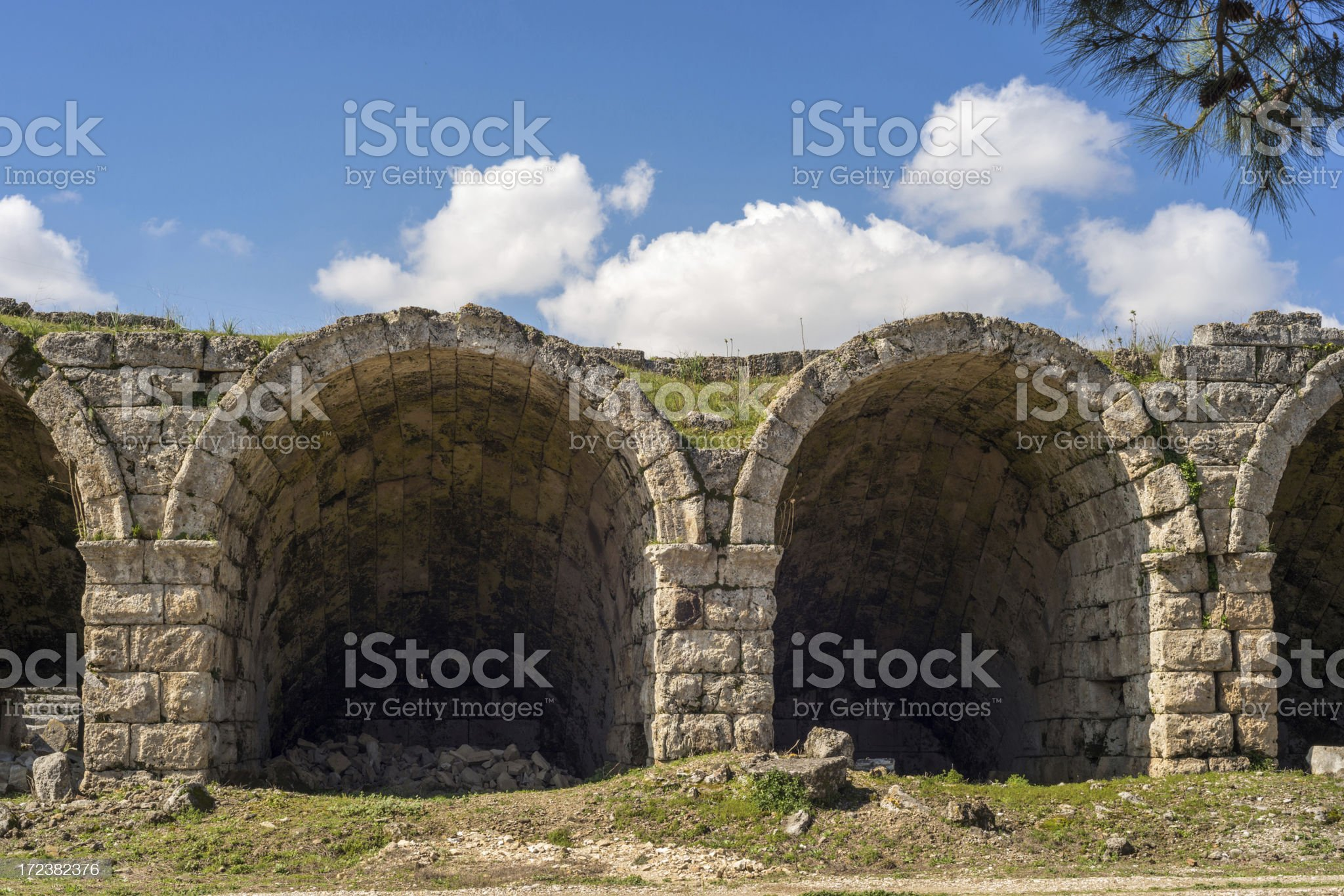 Roman Stadium in Perge royalty-free stock photo