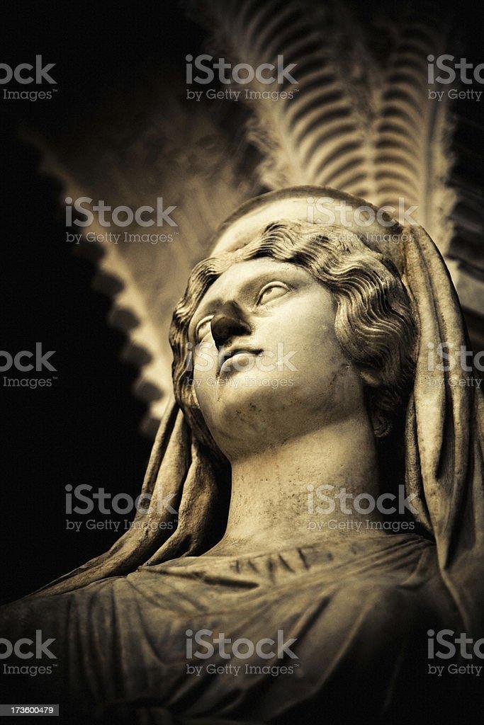 roman statue head royalty-free stock photo