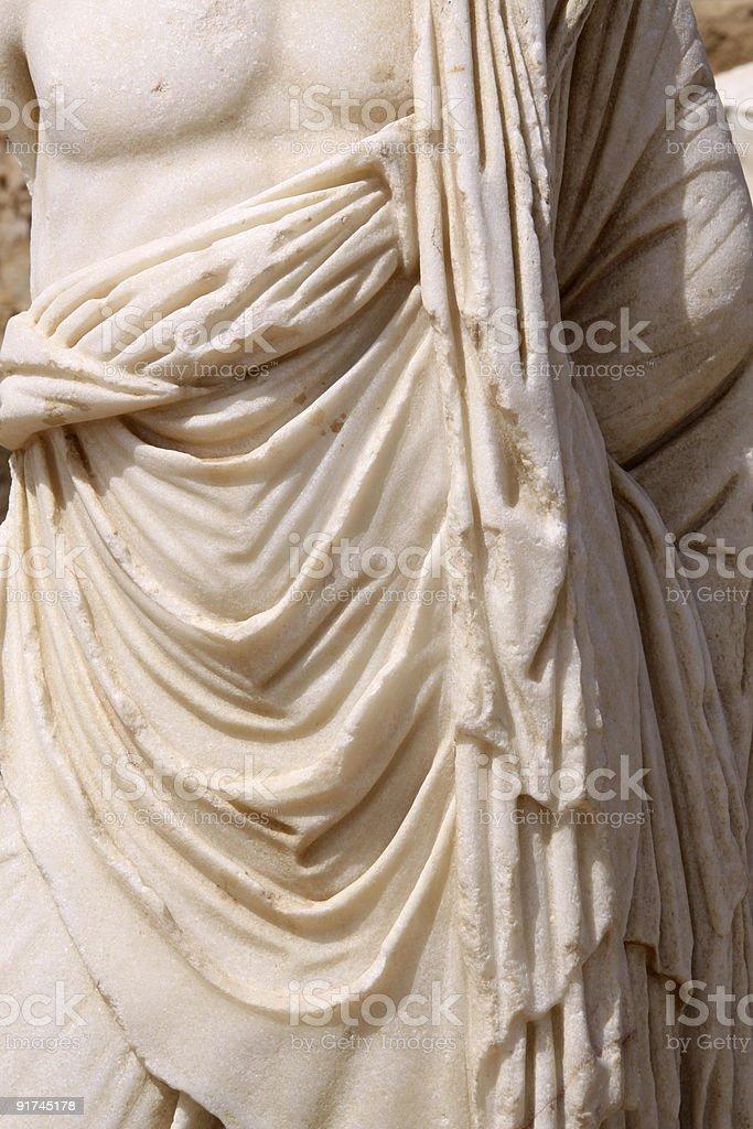 Roman Statue in Caesarea.Israel royalty-free stock photo