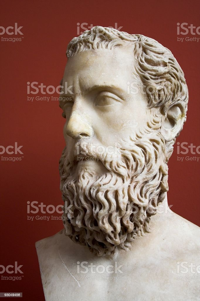 Roman statue of a man. royalty-free stock photo