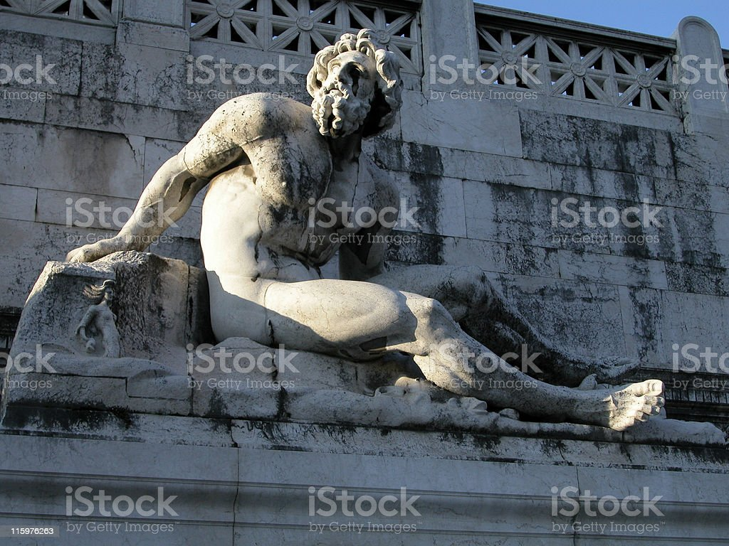 Roman Statue Rome Italy Tourist Attraction royalty-free stock photo